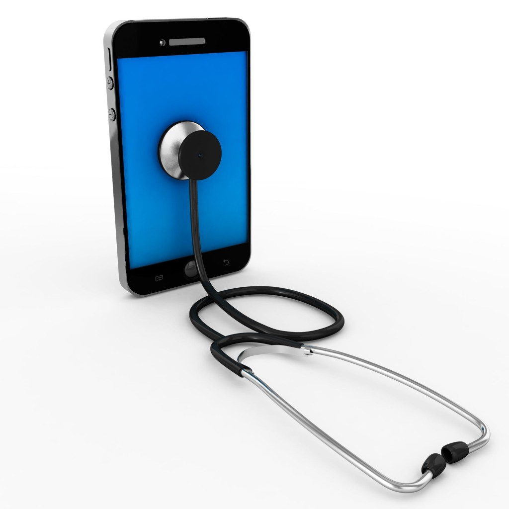 mobile_phone_with_stethoscope_showing_technology_and_health_stock_photo_slide01